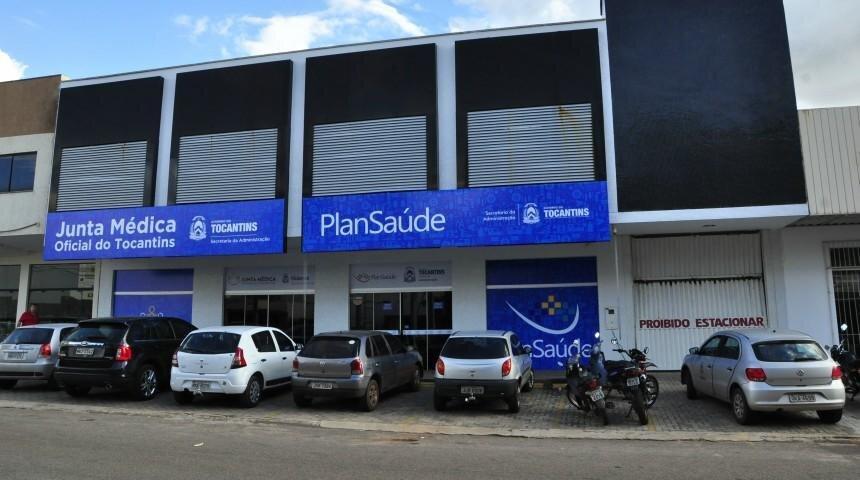 Fachada da sede do Plansaúde em Palmas