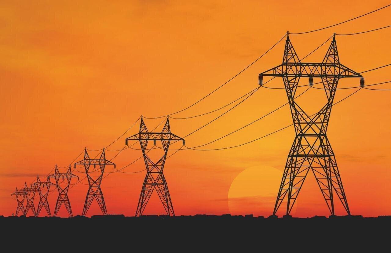 LInhões de energia vistos no pôr do sol