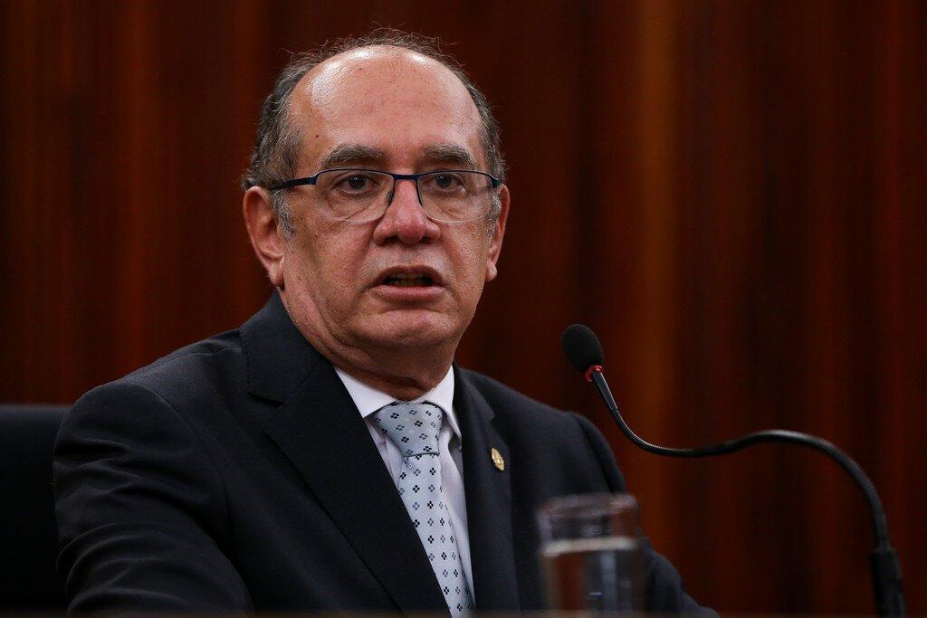 Ministro Gilmar Mendes no pleno do TSE