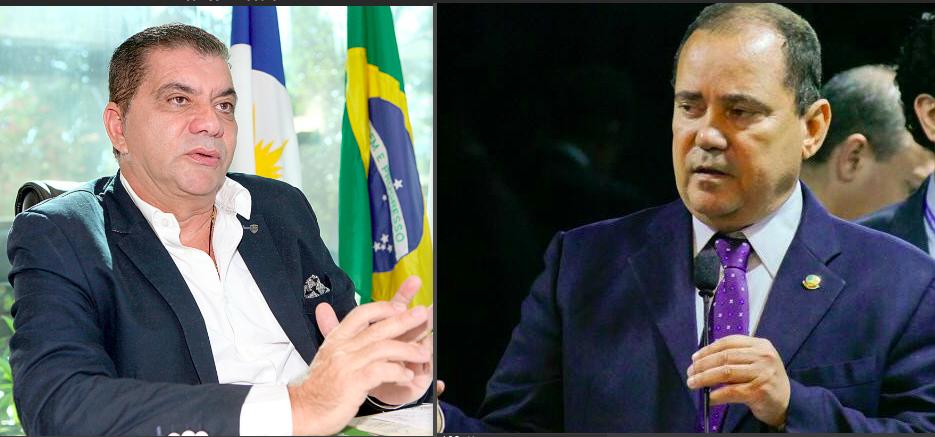 Carlos Amastha e Viceentinho, lado a lado, em montagem de fotos
