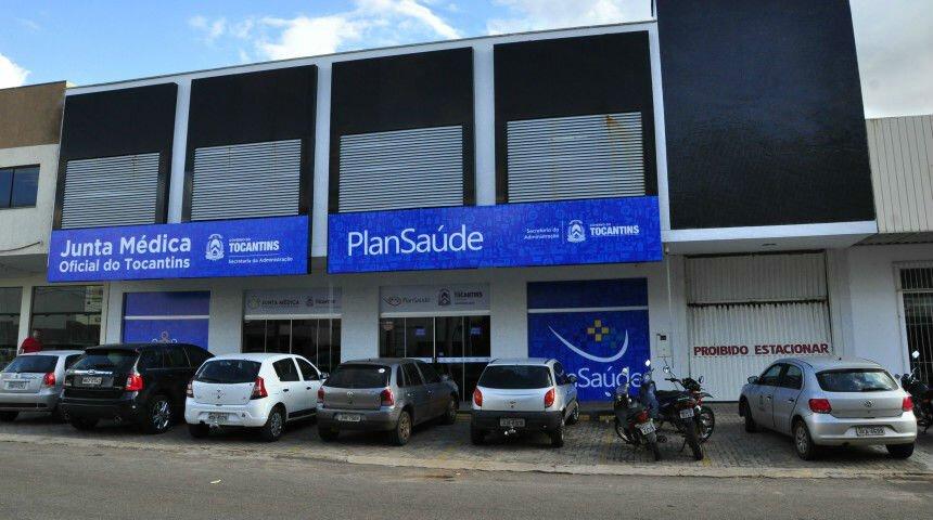 Fachada do prédio do Plansaúde em Palmas