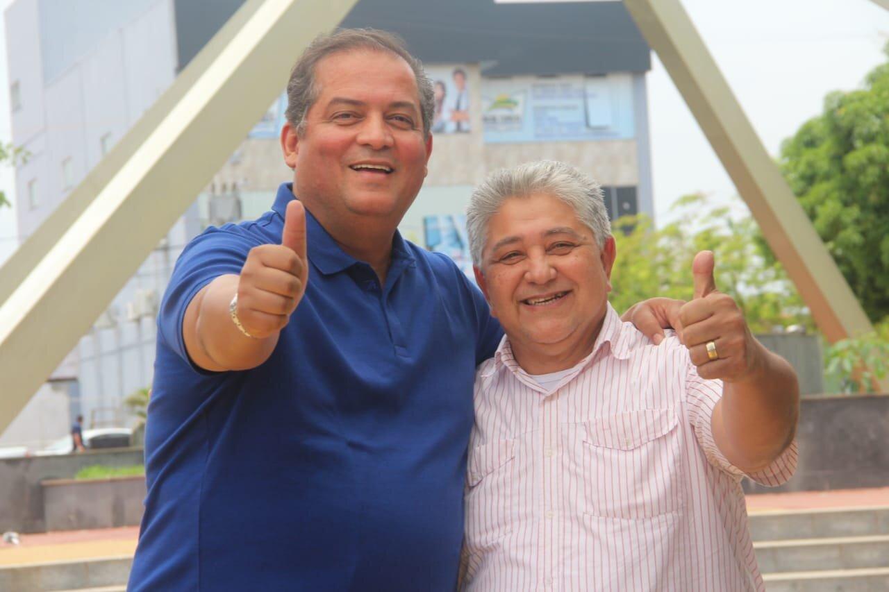 Gomes com o presidente da Ciadseta, pastor Paulo Martins