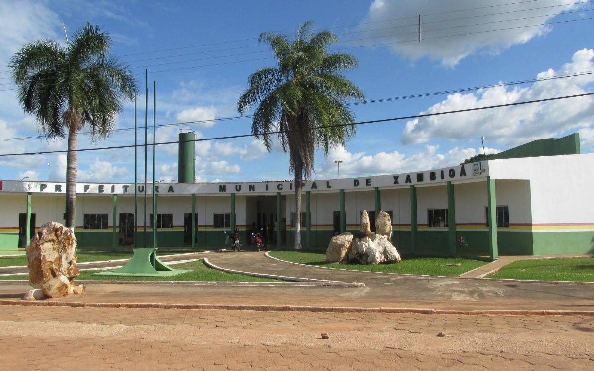 Frente da Prefeitura de Xambioá