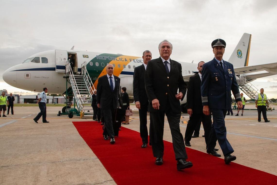Presidente Michel Temer chega a Buenos Aires para a Cúpula do G20