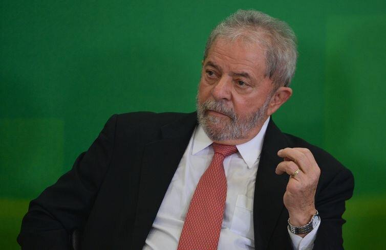 Ex-presidente Luiz Ináçio Lula da Silva durante evento
