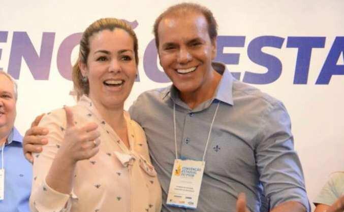 Prefeita Cinthia Ribeiro e senador Ataídes Oliveira