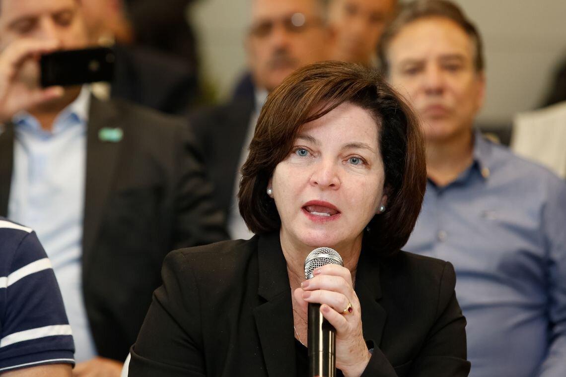 A Procuradora Geral da República, Raquel Dodge, durante encontro de trabalho