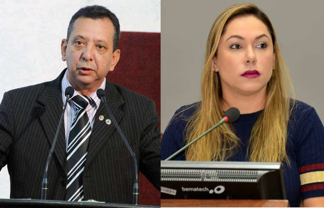 Toinho Andrade e Luana Ribeiro lado a lado
